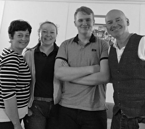 From LR. Jane Pulford, Lydia Crosher, Liam Ferrier and Peter Barnett