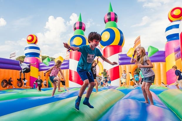 World's biggest bouncy castle returns to Dreamland for Camp Bestival Easter  takeover – The Isle Of Thanet News