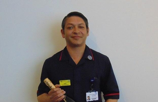 Chris Hamson who has received a Chief Nursing Officer Silver Award