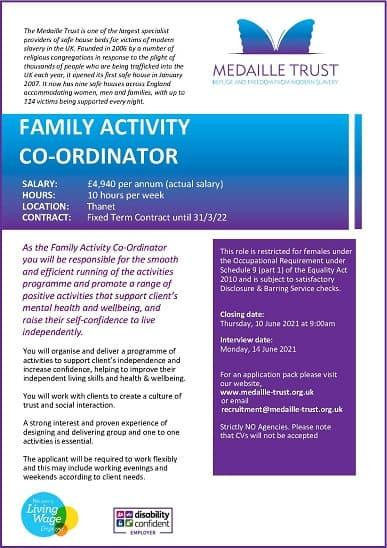 FAMILY ACTIVITY CO-ORDINATOR COASTAL